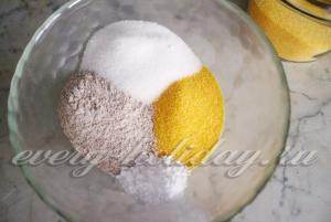 смешиваем сухие ингредиенты теста