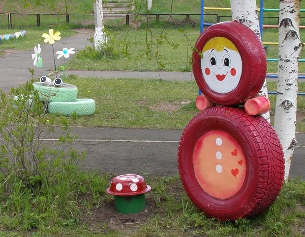 Поделки для детского сада из шин своими руками фото