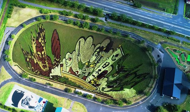 Искусство рисовых полей в Японии