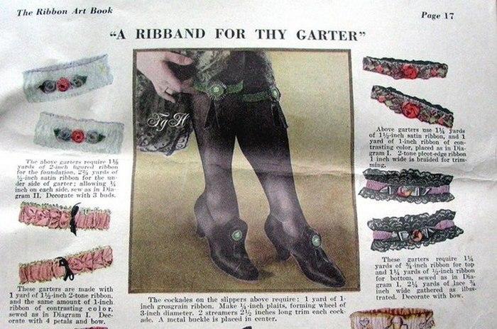 Реклама подвязок, 1920-е-30-е.