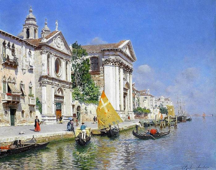 «Художник Rubens Santoro (1859 – 1941). Каналы и улицы Венеции».