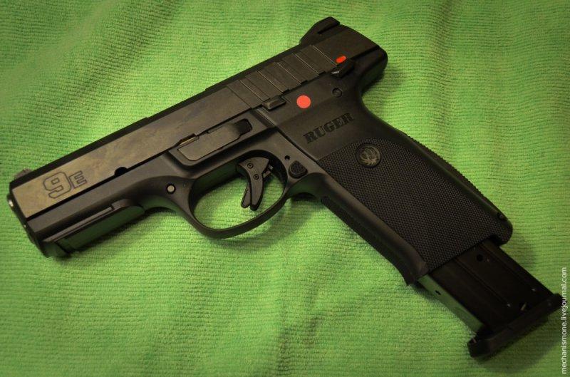 Частичная разборка и чистка пистолета Ругер СР9