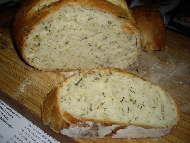 Луковый хлеб с укропом