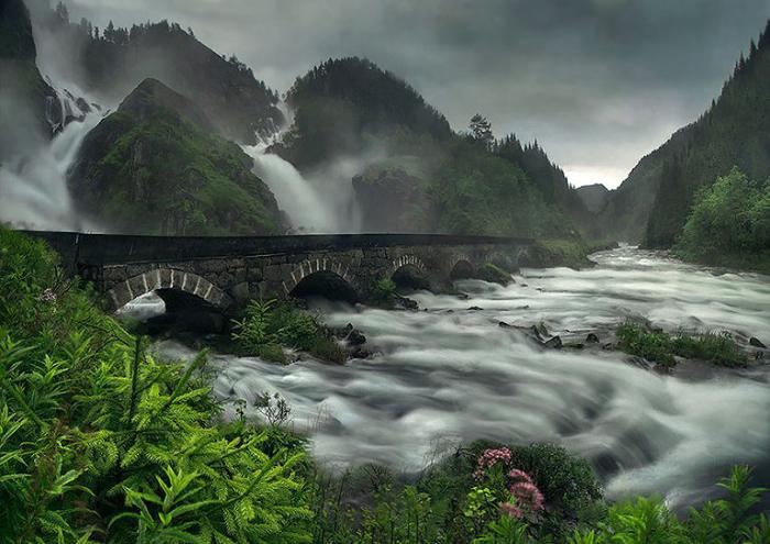 Мост в Норвегии.