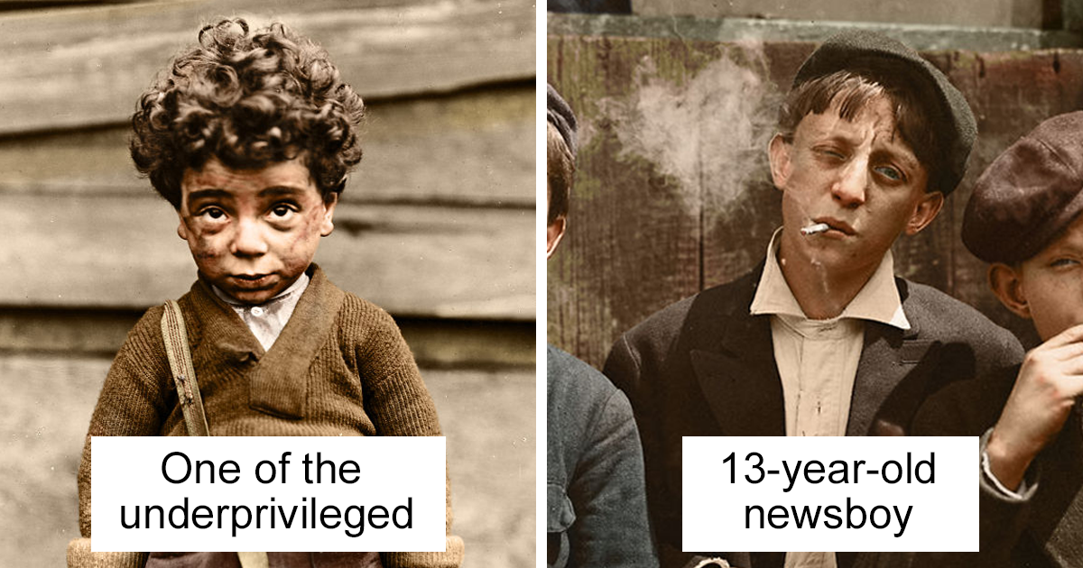 I've Colourised These 100+ Year Old Photos Of American Child Labour, And Here's The Result