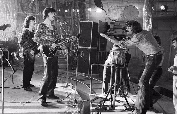 Михаил Боярский и «Машина Времени» на съёмках кинофильма Душа, 1981 год