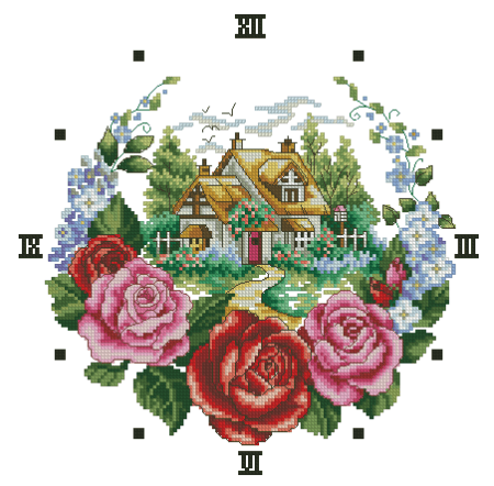 часы цветочный холм