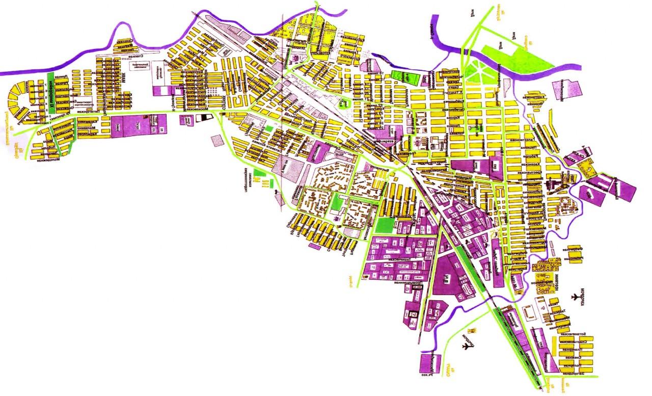 Панорама адлера с улицами и номерами домов