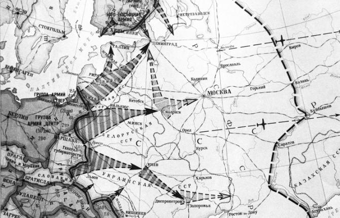 Из учебников по истории разных стран мира: нападение Германии на СССР