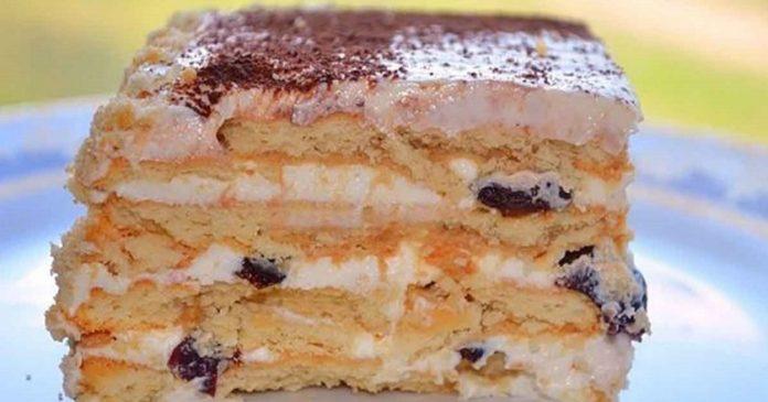 Вкусный торт с черносливом без выпечки. Справятся даже дети!