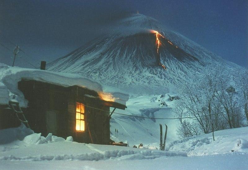 Красоты России. Завораживающие пейзажи вулкана Ключевская сопка