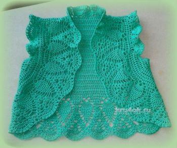 болеро для девочки вязание крючком детское болеро