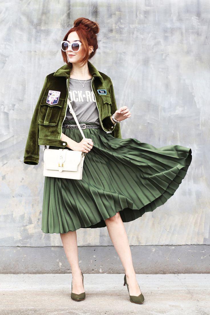 Харизматичный зеленый: army green и khaki