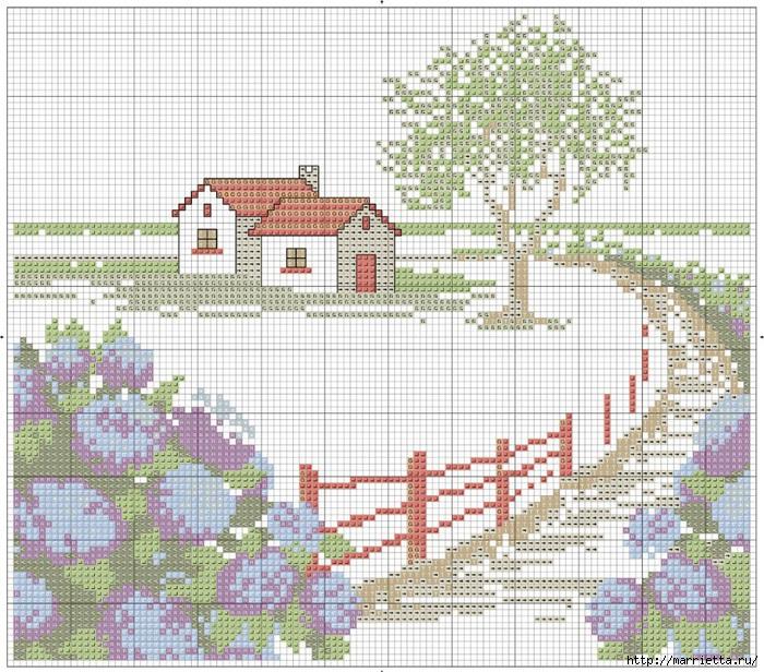 Вышивка для тех, кто мечтает о домике в деревне) (3) (700x616, 379Kb)