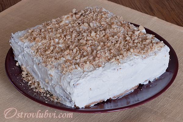 Торт из печенья и творога 7