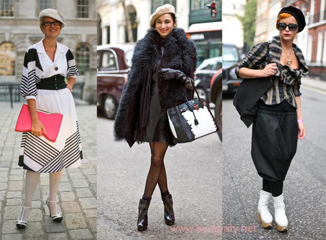 Как стильно носить берет?