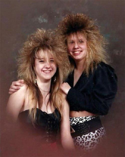 Модные причёски 1980-х, крут…
