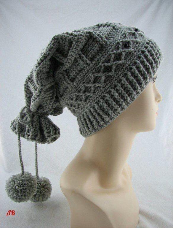 Оригинальная шапка-снуд два в одном: идея 2