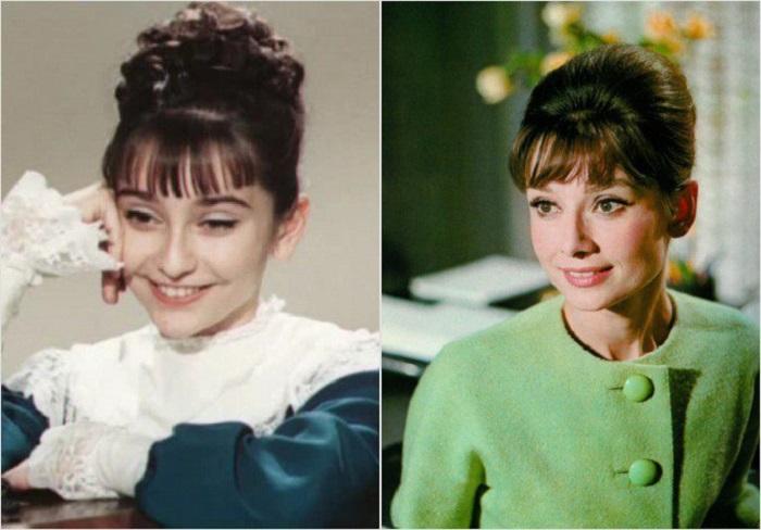 Ия Нинидзе и Одри Хепбёрн: от такой красоты просто дух захватывает.