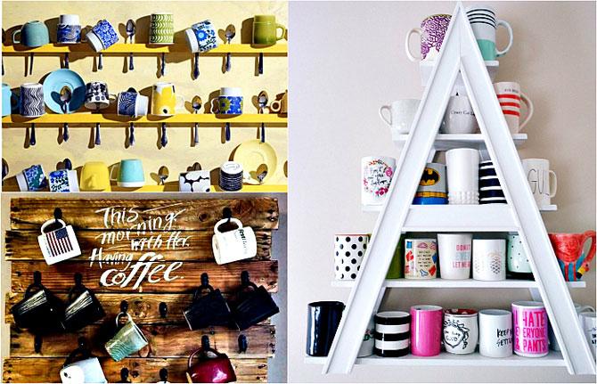 Чашки, как произведение искусства: 17 очаровательных идей хранения любимых кружек