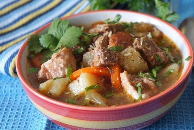 простой суп с мясом свинины
