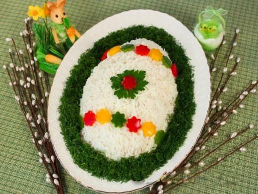 Салат «Пасхальное яйцо»