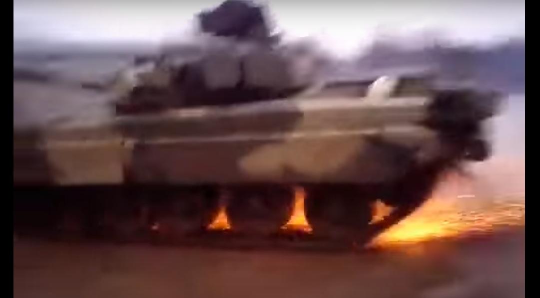 Дети в армии резвятся: Дрифт на Т-80УД