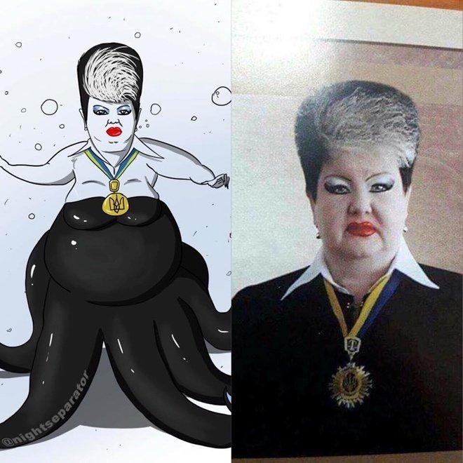 Украинская судья прославилась благодаря странному макияжу