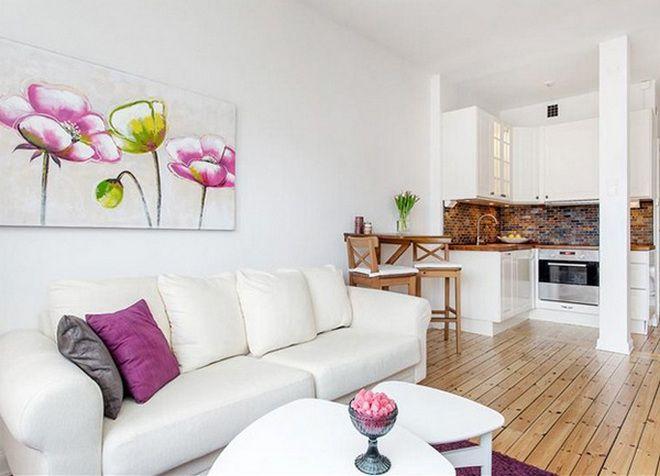 интерьер однокомнатной квартиры 15