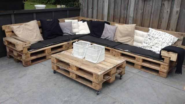 Мебель из полетов диван своими руками в домашних условиях с фото