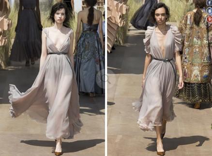 Много женственности и серого цвета: кутюрная коллекция от Dior...