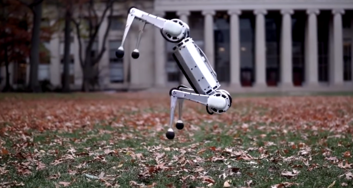 В MIT представили четвероного робота, умеющего делать сальто