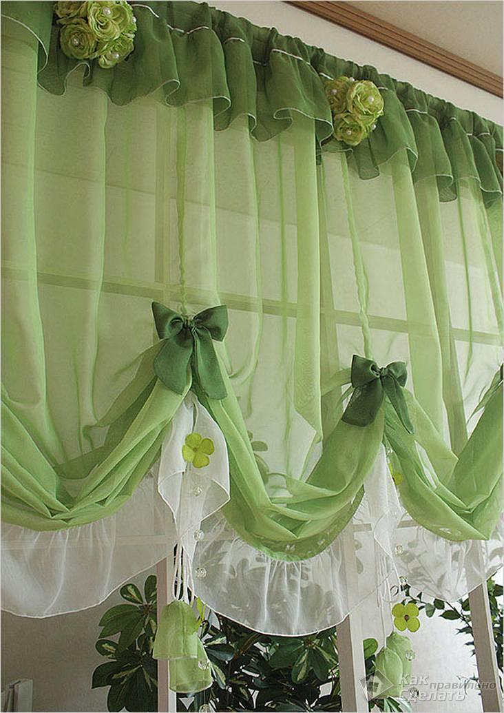 Фото шторы для кухни своими руками
