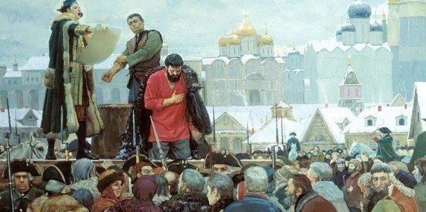 Когда зимой на Руси кого-то казнили, то применяли следующий способ: в мороз, к столбу,