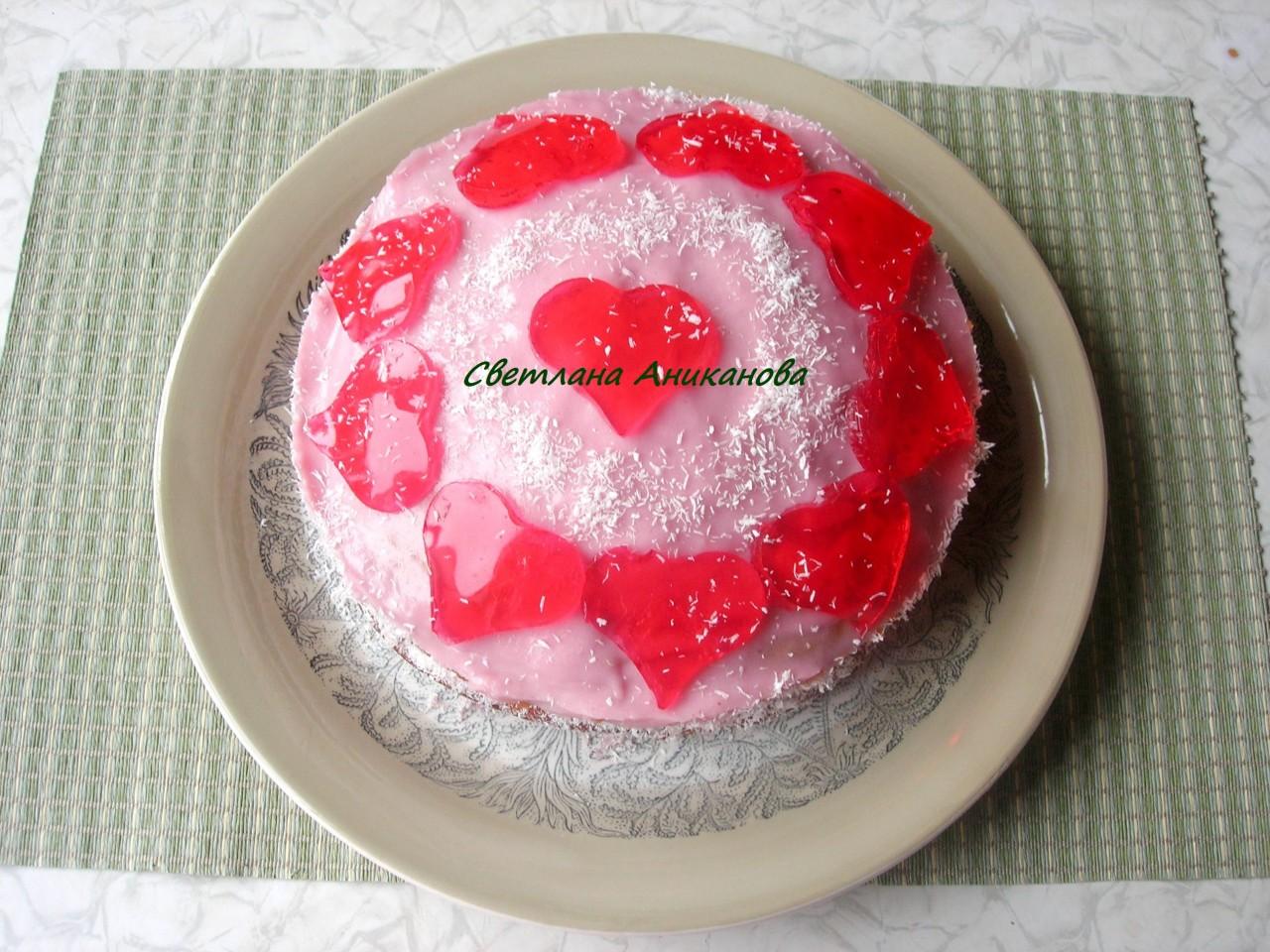 Торт для любимых ко Дню Святого Валентина