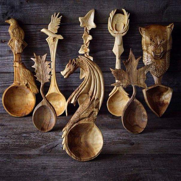 Красивые деревянные ложки Джайлса Ньюмана