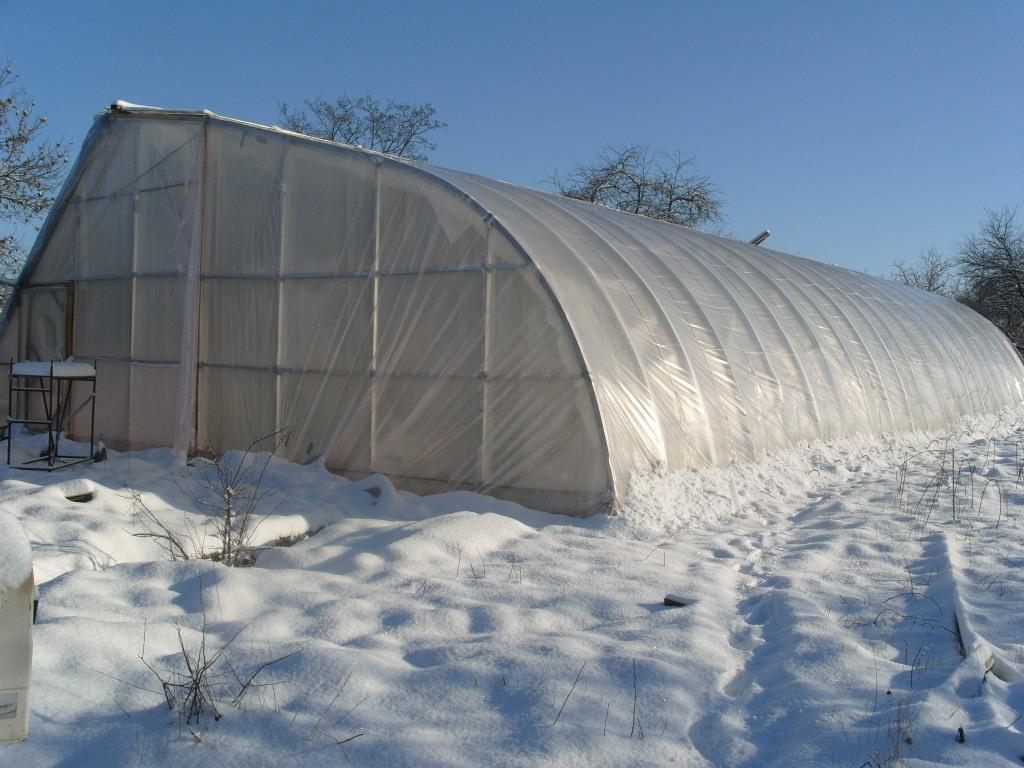 Как построить зимнею теплицу своими руками видео