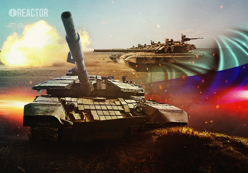 В распоряжении ополченцев ЛНР замечен сверхзащищённый «Урал» — танк Т-72