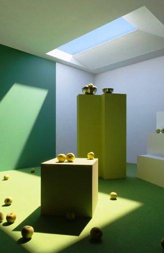 Уникальная система освещения — лампа, имитирующая окно, через которое светит солнце