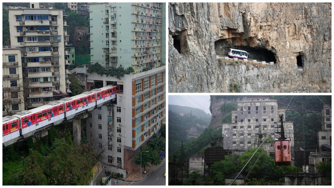 Не существует места, где человек не смог бы проехать железная дорога, интересно, непроходимые места, опасные дороги, тоннель, фото