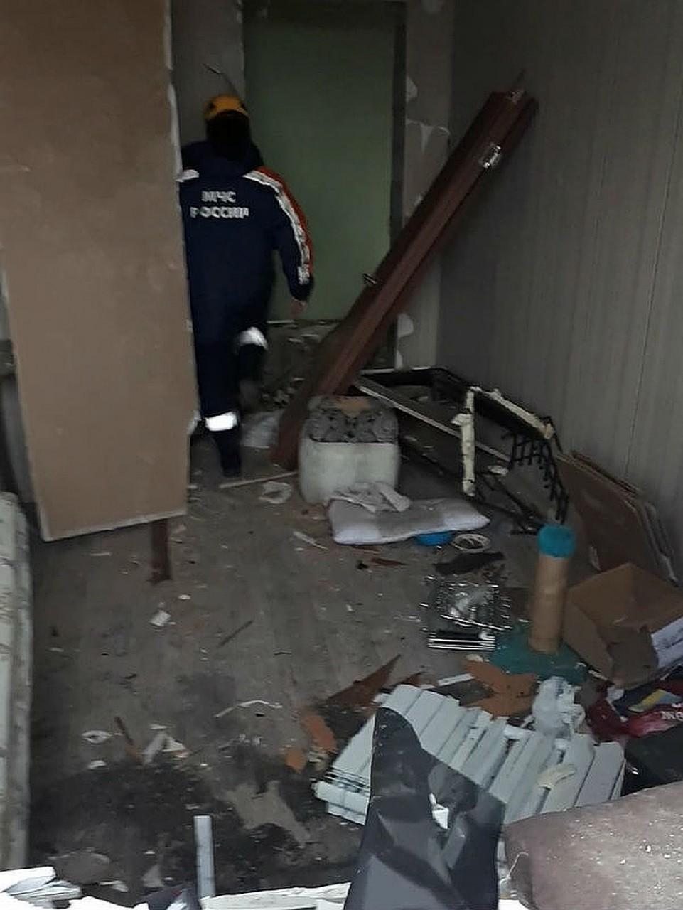 Комната Татьяны после взрыва. Фото: Татьяна КОТОВА.
