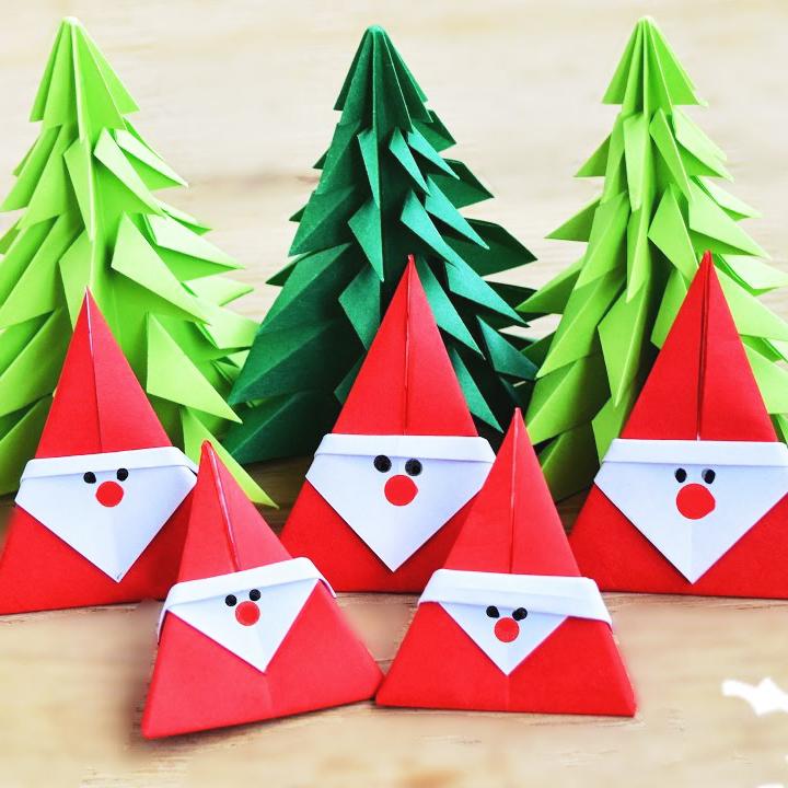 Дед Мороз в технике оригами …