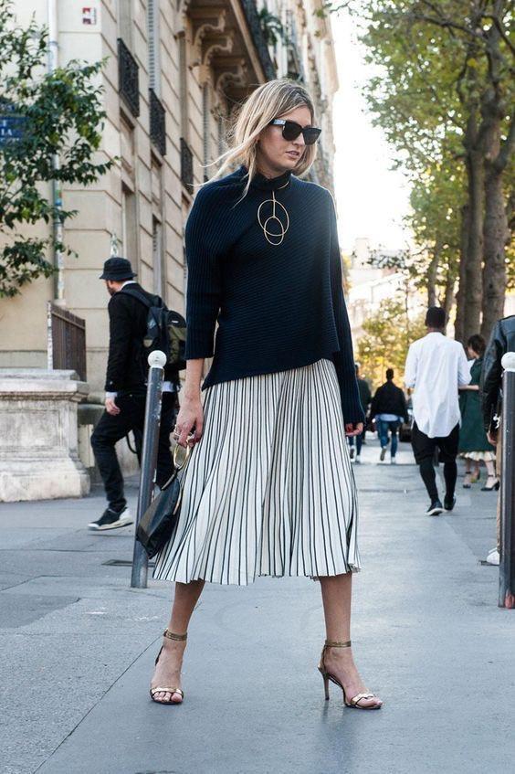 Модная юбка-плиссе