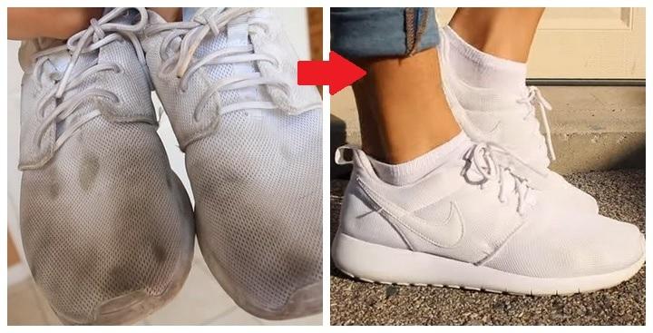 Неужели такое возможно? Белые кроссовки снова, как новые