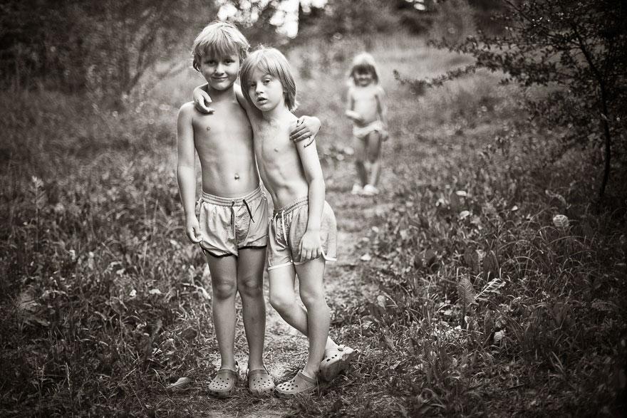 Летние каникулы в польской деревне - чёрно-белые фото-1