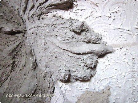 Интерьер Мастер-класс Лепка Лепка на стене №2 Бумага Гипс Краска фото 11