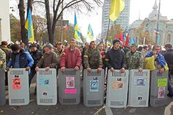 Партия Саакашвили решила продолжать акцию протеста в Киеве в одиночестве