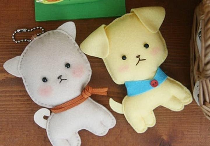 Игрушки из фетра год собаки