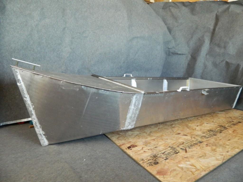 как сделать лодку из листа железа