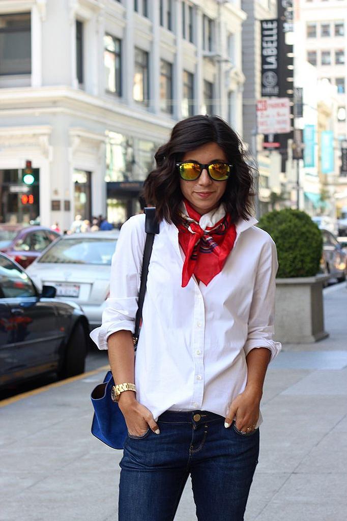 Как завязать платок на шее – учимся у француженок. 15 стильных образов